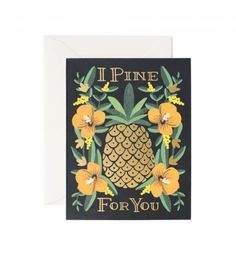 Rifle Paper Co. - I Pine For You - Available As A Single Folded Card Or Boxed Set Of 8