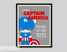 Superhero+Print+++Even+Captain+America+by+SimplyLoveCreations,+$15.00