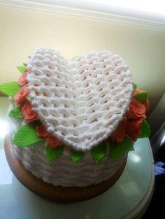 Basket weave cake..