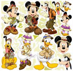 mickey minnie safari 2 kit digital vetor imagens scrapbook no Minnie Safari, Mickey E Minnie Mouse, Mickey Head, Birthday Party Themes, Boy Birthday, Wallpaper Do Mickey Mouse, Disney Clipart, Safari Party, Golden Girls