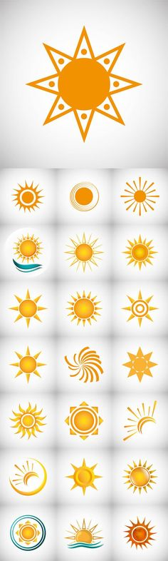Vector Sun Design Abstract Icon Summer Concept