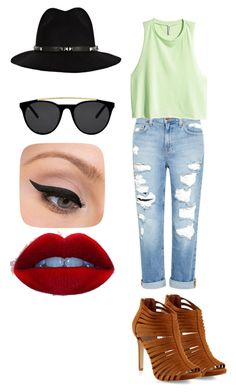 casual... by kianne-mlv on Polyvore featuring moda, H&M, Genetic Denim, Anine Bing, Smoke & Mirrors and LORAC