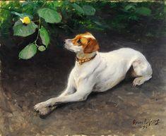 """""""Portrait of a Dog"""" Bruno Liljefors"""