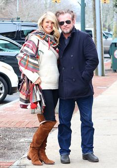So loved up: Christie and her beau John Melloncamp arrived in Southampton on Thursday to c...