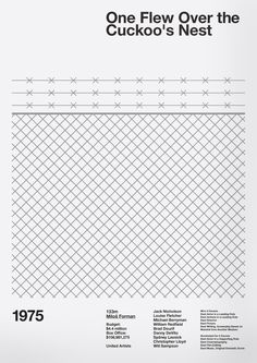 One Flew Over The Cuckoo's Nest Film Poster - A.N.D Studio Film Legacy Exhibition
