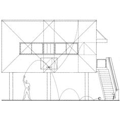 ANTHONY AMES  LE CORBUSIER'S MODULOR SHOOTING BASKETS BENEATH AN ARRAY OF 1 TO √2 RECTANGLES, IN: STANLEY ABERCROMBIE, ARCHITECTURE AS ART, 1980s  …merci, friederike goebbels