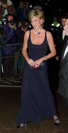 """October 26, 1995: HRH Diana, Princess of Wales at the Premiere of """" Haunted in London."""