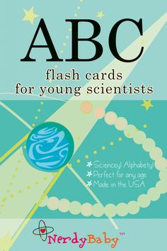 Nerdy Baby - ABC Flash cards, $20.00 (http://www.nerdybaby.com/abc-flash-cards/)