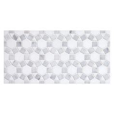 Complete Tile Collection Unique Mosaic Tile Patterns, Mini Hexalogon Mosaic, MI#: 237-S2-402-121, Color: Carrara With Thassos