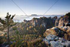 Morning at the Bastei - Fototapeter & Tapeter - Photowall