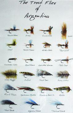 Trout flies of Argentina