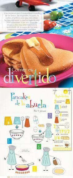 Pancakes de la abuela  Los deliciosos pancakes ideales para preparar y compartir en familia.