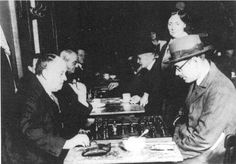 Fernando Pessoa (right) and Aleister Crowley playing chess in Lisbon, 1930 pic.twitter.com/Teg53qGYUq