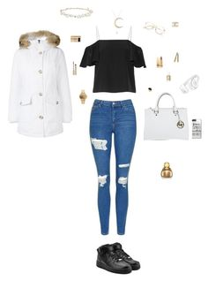 """Untitled #47"" by mayashmila ❤ liked on Polyvore featuring Topshop, Fendi, NIKE, Woolrich, Michael Kors, Beats by Dr. Dre, Design Lab, Rivka Friedman, Nixon and Chanel"