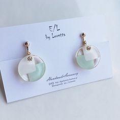 【2/3(土)21:00〜販売START】(全2色)Circle 2blocking pierce/earring | E/L byLoretta