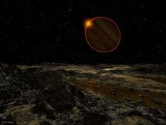 Oamanhecer nos planetas doSistema Solar - Júpiter