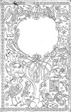 Embroidery pattern - taken from a Pauline Baynes illustration to one of Tolkien's works -- not period, but medieval in the same sense I am....