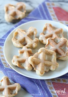 Cinnamon Waffle Cookies with Maple Glaze | inspiredbycharm.com #IBCFallCookieWeek