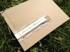 Burlap & Lace Sewn Wedding Invitations with Mad Libs RSVP - Burlap Rustic Teal Shabby Chic Country Woodland