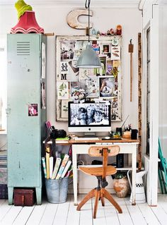 A House Full of Charming Ideas - Loving this workspace and many ideas in this…
