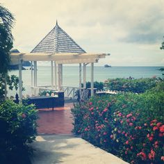 The spot where Jeff proposed.  St Lucia, Smugglers Cove