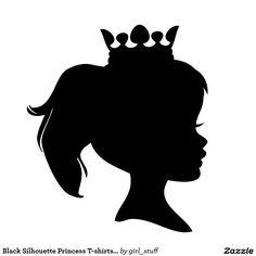 silhouette girl tiara - Google Search