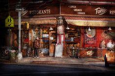Cafe - Ny - Chelsea - Tello Ristorante Photograph  - Cafe - Ny - Chelsea - Tello Ristorante Fine Art Print