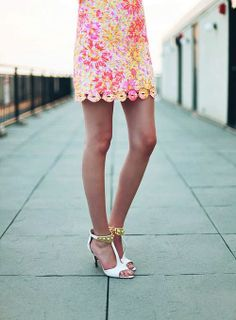 Style Seen / @Carly Cristman in Lilly Pulitzer Summer '13- Shiloh Dress in Sunkissed | We Heart It
