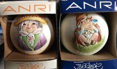1981-amp-1982-Anri-Toriart-Limited-Edition-Ball-Christmas-Ornament
