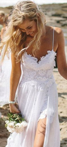 Wedding Bliss Simple Understated Wedding Nuptials   Serafini Amelia   Sexy Beach Wedding Dress
