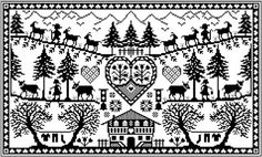 Gazette 94 - a French site with lots of free sampler patterns Cross Stitch Freebies, Cross Stitch Samplers, Cross Stitch Charts, Cross Stitch Designs, Cross Stitching, Cross Stitch Patterns, Blackbird Designs, Diy Embroidery, Cross Stitch Embroidery