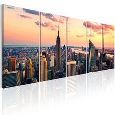 Quadri New York   QuadriperArredare.it Framed Wall Art, Wall Art Prints, Poster Prints, Canvas Prints, Deco New York, Nyc Skyline, Wall Art Pictures, Beautiful Sunset, Banksy