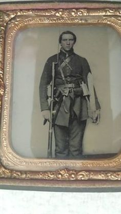Estate find of 1861, Richmond Va Confederate Solider....awesome image!!