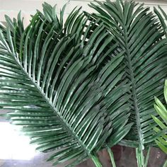 Artificial Leaves Simulation Plants Fake Palm Tree Leaf Greenery for Floral Arrangement Accessory Part Palm Tree Flowers, Fake Palm Tree, Palm Tree Leaves, Hawaiian Flowers, Flower Garlands, Fake Flowers, Colorful Flowers, Flower Decorations, Palm Trees