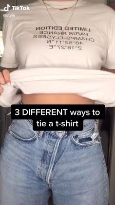 dicas de looks Easy Fashion Tips 3 Different Ways To Ties A T-Shirt Fashion OOTD TikTok ideas Clothing hacks videos dicas Easy Fashion OOTD Ties TikTok Tips Tshirt Ways Diy Fashion Hacks, Fashion Tips, Diy Fashion Videos, Jeans Fashion, Hijab Fashion, Fashion Fashion, Winter Fashion, Jugend Mode Outfits, Girl Life Hacks