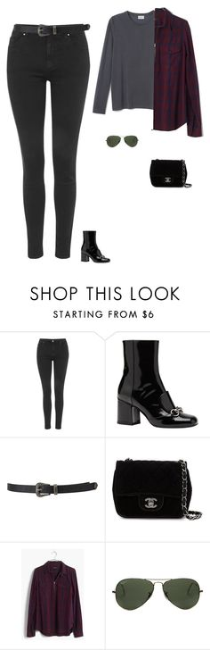 """Untitled #1539"" by tayloremily218 on Polyvore featuring Topshop, Gucci, Forever 21, Chanel, Madewell and Ray-Ban"
