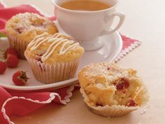White chocolate raspberry muffins.