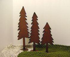 Trees Set of 3 Metal Trees Large Shelf Trees by northwindmetalart, $38.00
