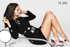 Singer Selena Gomez graces the November 2015 cover of FLARE Magazine, looking bondage chic in a leather Alexander Wang dress and top. Selena Gomez Fotos, Selena Selena, Alex Russo, Disney Channel, Taylor Swift, Selena Gomez Pictures, Perfect Legs, Lovely Legs, Louis Vuitton