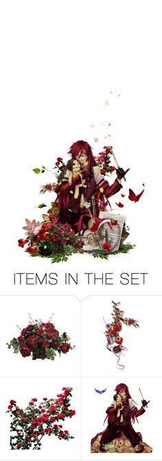 """""""Oh Bassy, I do love red the most. Hair, clothes, lipstick, I love them to be red. That's why I love using fresh blood to do make up for those ugly women. The more flamboyant a woman is, the more she's as beautiful as a poisonous flower, right?"""" by girlinthebigbox ❤ liked on Polyvore featuring art"""