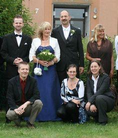 Ein Teil der Hochzeitsgesellschaft
