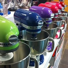 Kitchen aid heaven. But to choose just one colour....? I'd love orange yellow purple red! Teal :D maybe them all??