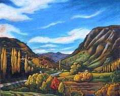 Wendy Leach Artist - New Zealand New Zealand Houses, New Zealand Art, Abstract Landscape, Landscape Paintings, Landscapes, New Zealand Landscape, Nz Art, Madhubani Art, Design Art