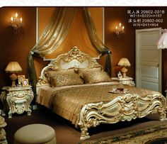 This ornate stunning vintage bedroom set is delicious! Victorian Bedroom Furniture Sets, Vintage Bedroom Sets, King Bedroom Sets, Bedroom Furniture Design, Home Decor Furniture, Home Decor Bedroom, Vintage Furniture, Furniture Ideas, Canopy Bed Frame