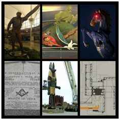 From swastika runways to chemical warfare murals to freemasonry to creepy statues of the pale horse and Egyptian god of death, Denver International Airport is a weird place. If you haven't read the conspiracies, check them out.