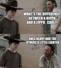 Rick and Carl - Walking Dead Meme Humor ; Walking Dad Jokes, Memes The Walking Dead, Carl Walking Dead, Walking Dead Coral, The Walking Dad, Rick And Carl Meme, Rick Memes, Twd Memes, Dont Call Me