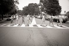 know robert will love...beatles themed wedding party photos