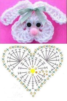 Free, Easy Crochet Sweater Pattern - A Cardigan Made from 2 Hexagons! - Her Crochet Easter Crochet Patterns, Crochet Bunny Pattern, Crochet Motifs, Free Crochet, Crochet Stitches, Crochet Amigurumi, Crochet Hats, Crochet Simple, Baby Blanket Crochet