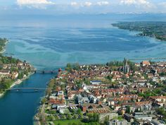 Konstanz, Germany. Lake Constance is surrounded by the borders of Germany, Austria, and Switzerland
