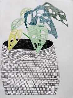 Jonas Wood , Pot with Plant, 2009.